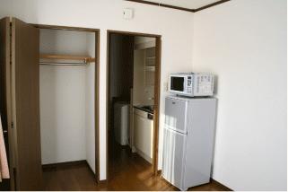 コーポK クローゼット・電子レンジ・冷蔵庫